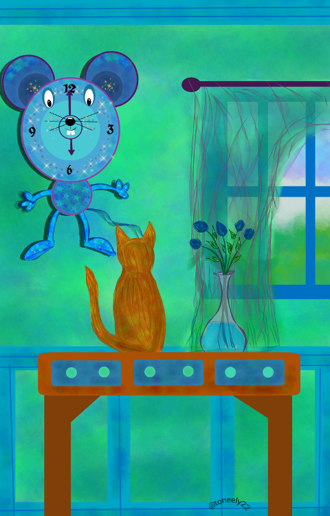 wall clock drawing contest winner