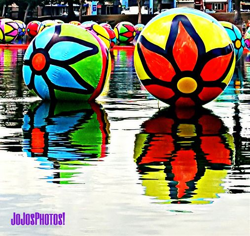 McArthur Park Lake, Los Angeles.  #balloon #colorful #hdr #nature #photography #summer #travel #water #streetphotography #streetart #vivid #downtownla #urban #ball