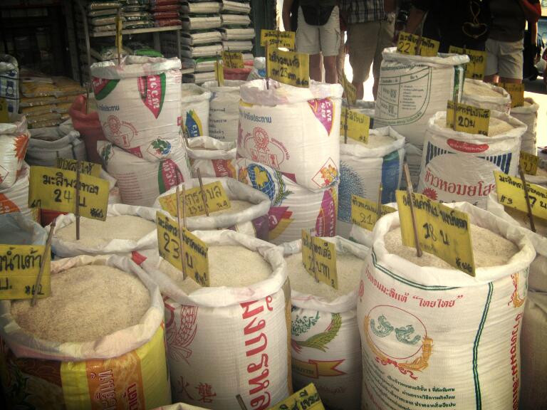 # Rice  #thailand  #travel  #roundtrip #food #asian #market #bags #streetphotographie  #city #cityview #cityscapes