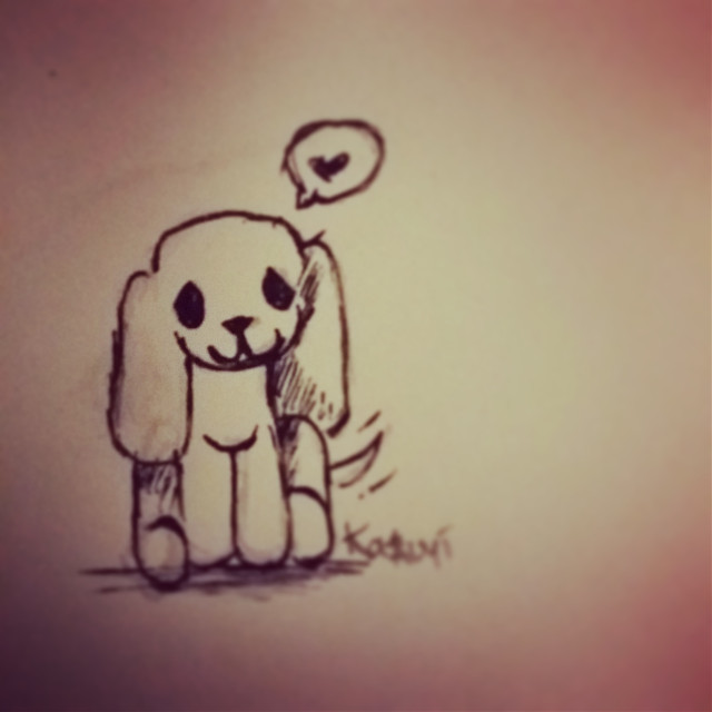 A wittle puppy for @pikachu-layla  Hope you like cx   #art #doodle #sketch #drawing #pen #puppy