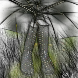 dailytag rainboots umbrella pencil