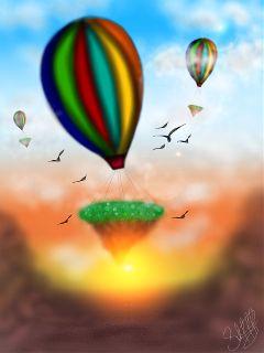dcflyingisland draw drawing art colorful