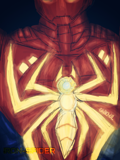 dcsuperherologo spiderman ironspider draw