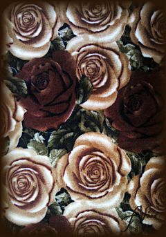 brown roses flower prints fabric