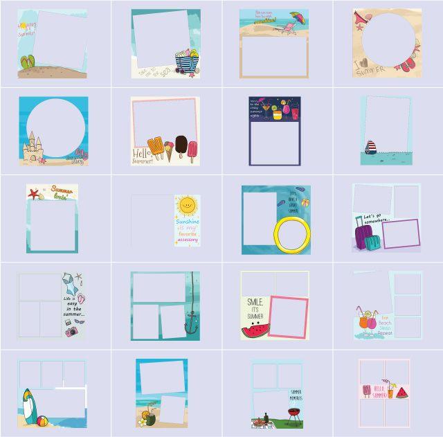 summer story frames
