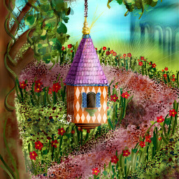 dcbirdhouse wdpflowerfield drawing artistic colorful