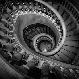 abstract blackandwhite structure staircase picsart