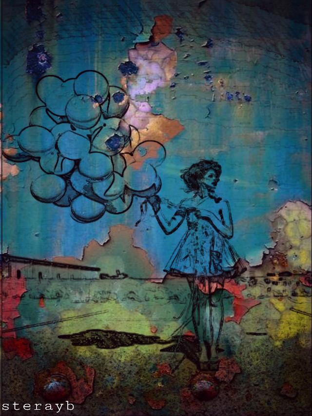 #popart #retro #collage #colorful #balloon