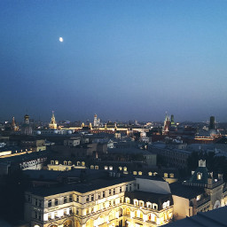moscow evening city photography summer