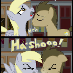 mlp thedoctor kiss love derpyhooves