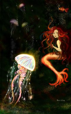 dcjellyfish art drawing mermaid colorful