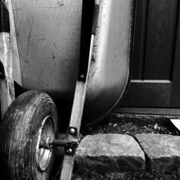 wheelbarrow blackandwhite