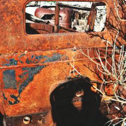 rust hdr adandoned broken weathered