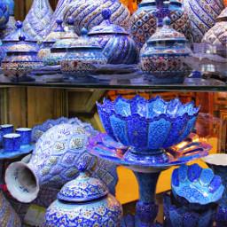 blue handmade handicrafts minaakaari isfahan