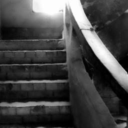 stairs emotions blackandwhite