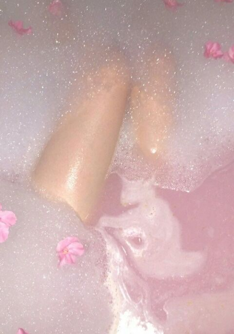 Image result for pink bubble bath aesthetic