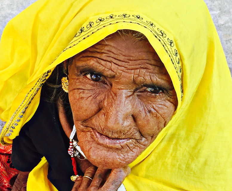 Age #serious #India #coloursplash #wrinkles